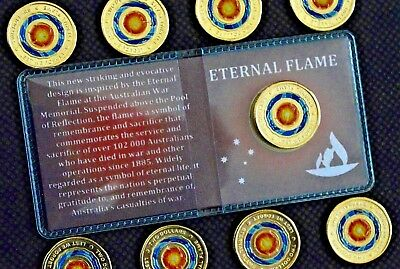 2018 Anzac $2 Eternal Flame Coin New Unc From Roll In Special Coin Flip Ltd Qtys
