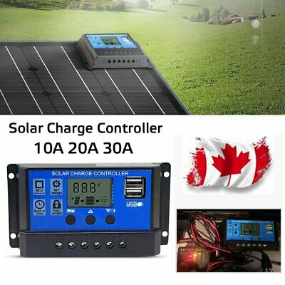 30A 12V/24V Solar Panel Controller Regulator Charge Battery Protector LCD CA