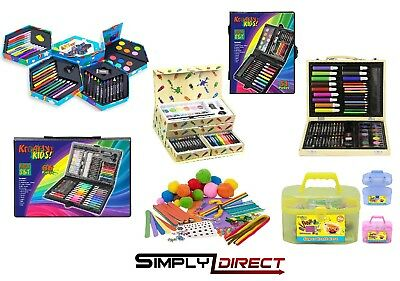 Childrens Arts & Craft Set Crayons Paints Pens Pencils - All In One Sets