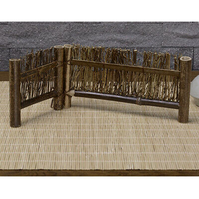 Mini Fence Home Chinese Style Tea Ceremony Natural Bamboo Rustic Decor 1