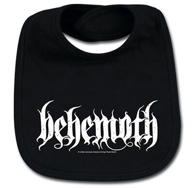 Behemoth Logo Cotton Baby Bib Boys Girls Infant Heavy Metal Kids Black Bibs
