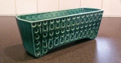 Vintage Withernsea Eastgate Pottery England Green Trough small planter porcelain