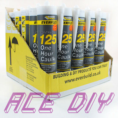 25 x Pack White Everbuild 125 One Hour Caulk C3 | Fast Drying Decorators Filler