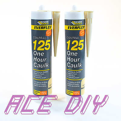 2 x Pack Magnolia Everbuild 125 One Hour Caulk C3 | Fast Drying Filler Sealant