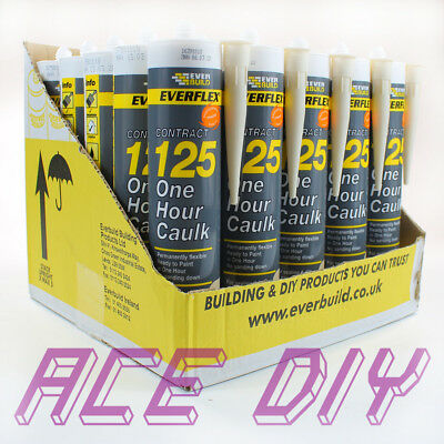 25 x Pack Magnolia Everbuild 125 One Hour Caulk C3 | Fast Drying Filler Sealant