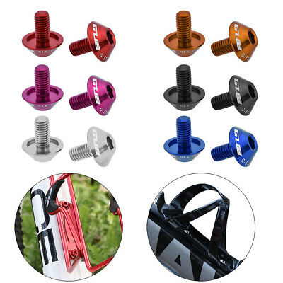 4Pc Aluminum Alloy Water Bottle Cage Bolts M5 X12mm Black Red Bicycle Screws