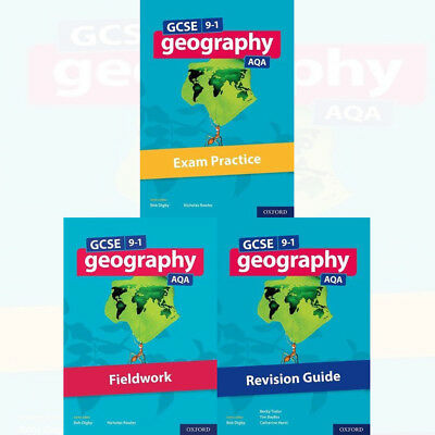 GCSE 9-1 Geography AQA Exam Practice Revision Guide Collection 3 Books Set New