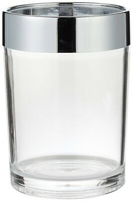 Carnation Home Fashions Clear Acrylic Tumbler with Chrome Trim