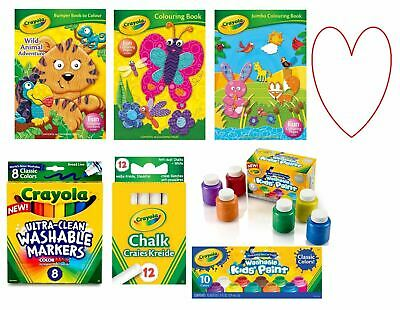 Crayola pens colouring book metallic paints washable gifts stocking fillers