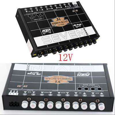 Car Truck Audio Speaker 12CH 7 Band Parametric Graphic Equalizer 12V Line Driver