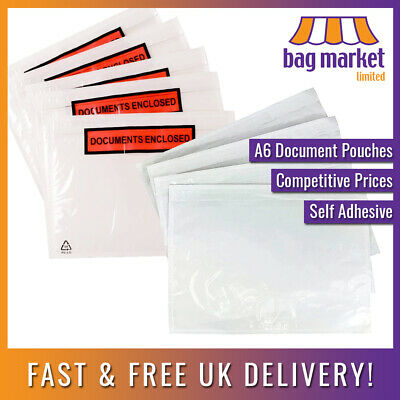 A6 Plain/Printed Document Enclosed Envelopes! | Labels/Wallets/Invoice/Doc Enc
