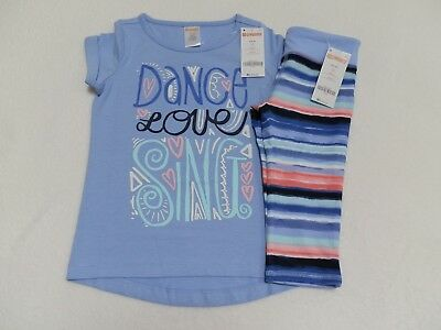 Gymboree Girls Active Outfit Dance Love Sing T-Shirt & Capri Leggings 4 5/6 7/8