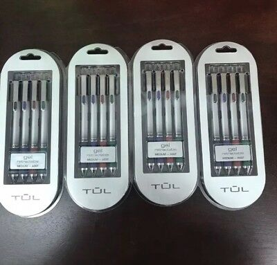 4 Four Packs Tul Retractable Gel Pens