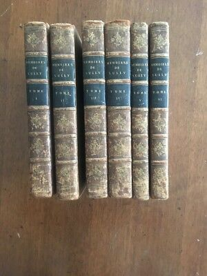 LIVRE ANCIEN Memoires de Sully De Bethune a Paris 1814 6 vol LIBRO ANTICO