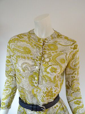 TRUE VINTAGE 70er Tunika Bluse Long Shirt Paisley Boho peasant Folklore Hippie