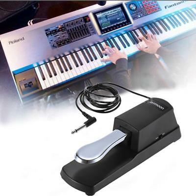 Classic Black Metal Electronic Keyboard Sustain Pedal Digital Piano Foot Damper