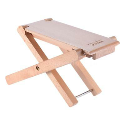 Foldable Wooden Guitar Footrest Stool Pedal 4-Level Adjustable Height Beech V9P0