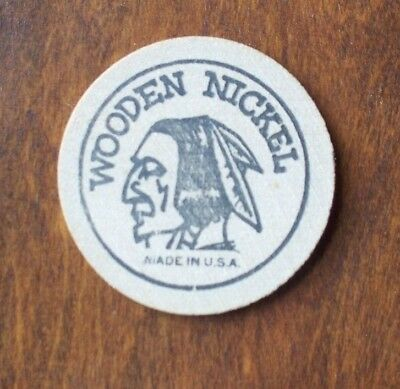 Round Wooden Nickel Free Round Golf 1 Person Family Miniature Golf Butler Pa.