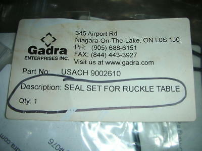 RUCKLE ROTARY TABLE Seal Kit USACH 9002610 TABLE for TSCHUDIN GRINDER GADRA NOS!