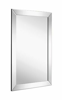 Large Framed Wall Mirror With Angled Beveled Mirror Frame Premium