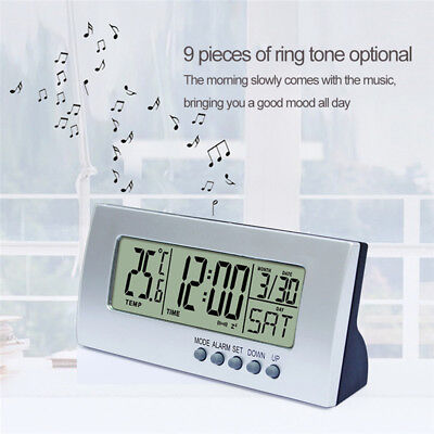 Digital Electronic Bedside Smart Alarm Clock With Temperature Display Date Gift