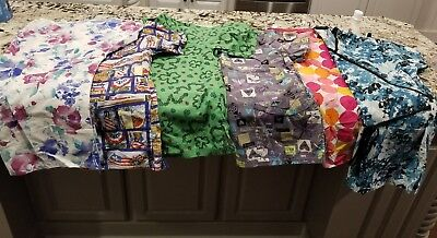 Lot of 6 small scrub tops