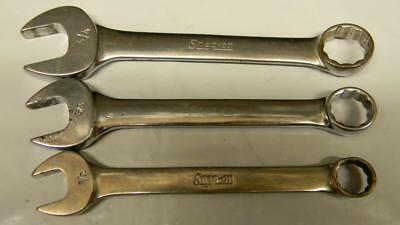 Snap-On 3Pc Sae Short 12Pt Combination Wrenches