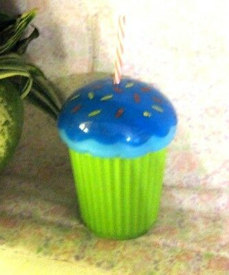 Denny's Child's Cupcake Drinking Cup w/Straw 2013 FREE SHIPPING