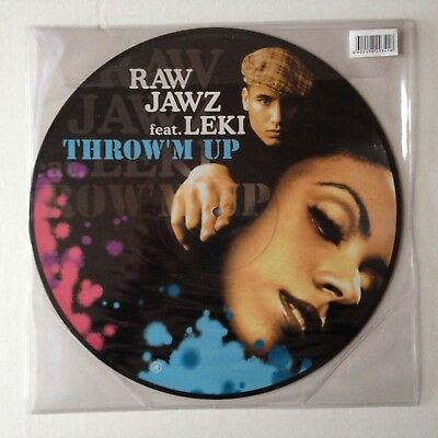 Disque Maxi 45T Picture Disc Raw Jawz Feat Leki Throw'm Up