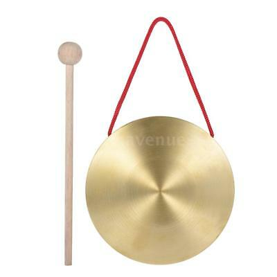 15cm Hand Gong Kids Cymbals Brass Copper Percussion with Round Play Hammer M2D6