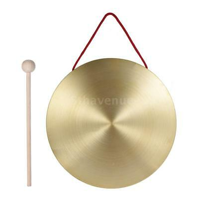 22cm Hand Gong Cymbals Brass Copper Percussion Instruments +Round Play E6F4