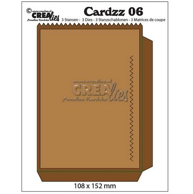 Crealies Cardzz no 6 bag card CLCZ 06 108x15mm 345106