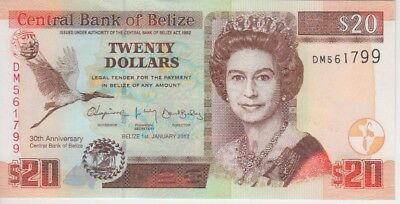Belize Banknote P72 20 Dollars 2012 Commemorative, UNC