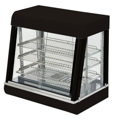 "26"" Self-Service Countertop Heated Display Case - (3) Shelves, 120v"