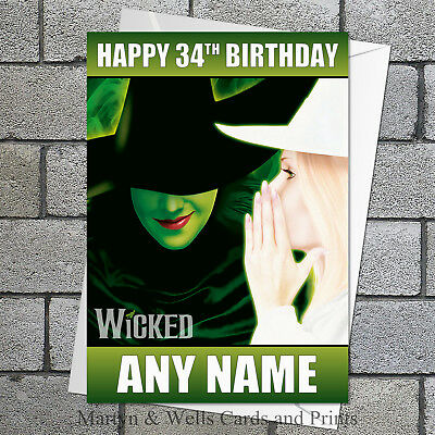 Personalised Wicked Witch Of The West Wizard Of Oz Birthday Card