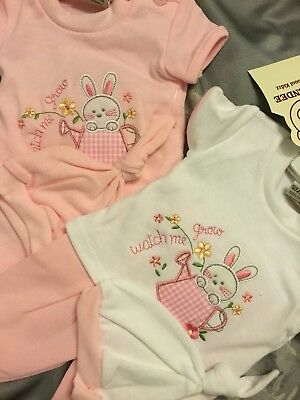 Premature Baby Girls Romper Pink White 3-5lbs 5-8lbs 8-12lb Hat 100% Cotton 3pc