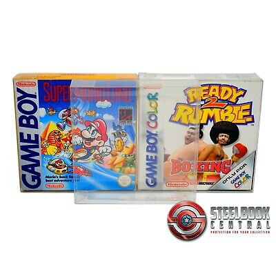 10 x GP7 Game Boy Game Box Protectors for Nintendo 0.4mm PET Display Case