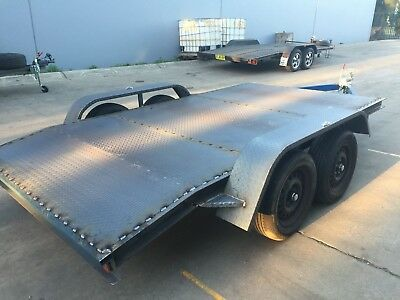 Brand New Car Trailer Tandem axle beaver 12FT 2T  BUDGET NO RAMPS OR PAINT INCL