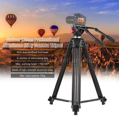 Pro Heavy Duty Video Camera Tripod with Dual Handled Fluid Hydraulic Head K2X5