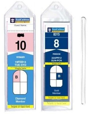 8 Pack of Cruise Ship Luggage Tags (Narrow) with 6 Loops for Royal Caribbean By