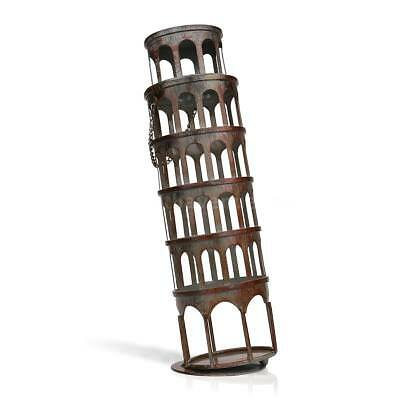 TOOARTS Metal Rustic Tower Wine Bottle Holder Rack Handwork Art Decorations H8P8