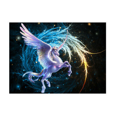 KD_ DIY 5D Diamond Embroidery Painting Unicorn Horse Cross Stitch Craft Decor