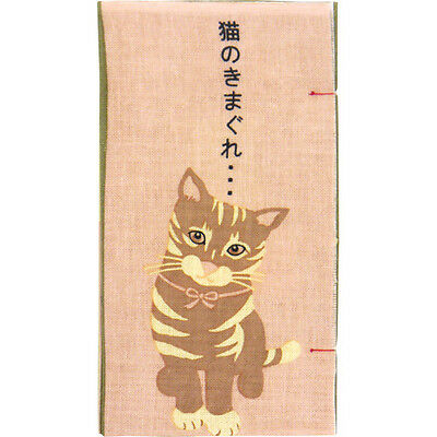 Japanese traditional towel TENUGUI PINK CAT NEW COTTON MADE IN JAPAN