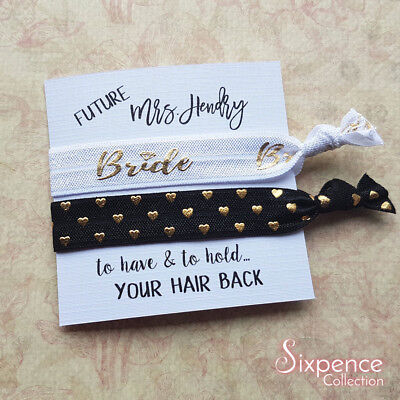 Future Mrs Personalised Hair Tie Gift / Bride Gift / Engagement / Bridal Shower