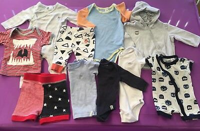 COTTON ON Baby Boys Clothes Mixed Bundle Size 000-0 Hoodie Tops Bodysuit Romper