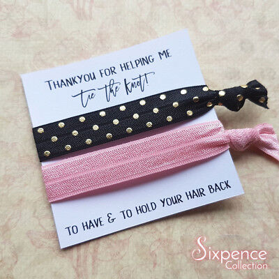 To have and to hold your hair back hair ties / Wedding Party Favours