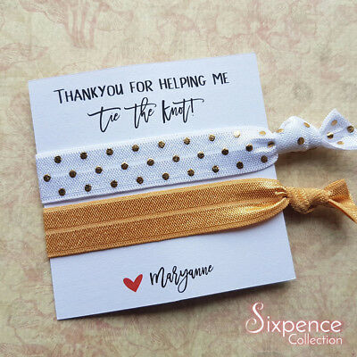 Thank You For Helping Me Tie the Knot Personalised Hair Ties