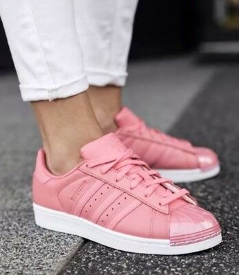 pretty nice e41c0 7dc9a 1711 Adidas Originals Superstar By9750 Metal Toe Rose Women s Sneakers Shoes