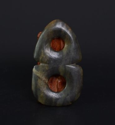 Chinese HongShan Culture Style Sacrificial Ritual Two Together Jade BI-JR12605