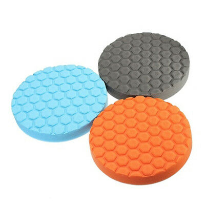 3x Flat Car Polishing Foam Buffing Sponge Pad Kit Car Polisher Buffer3/4/5/6/7 2